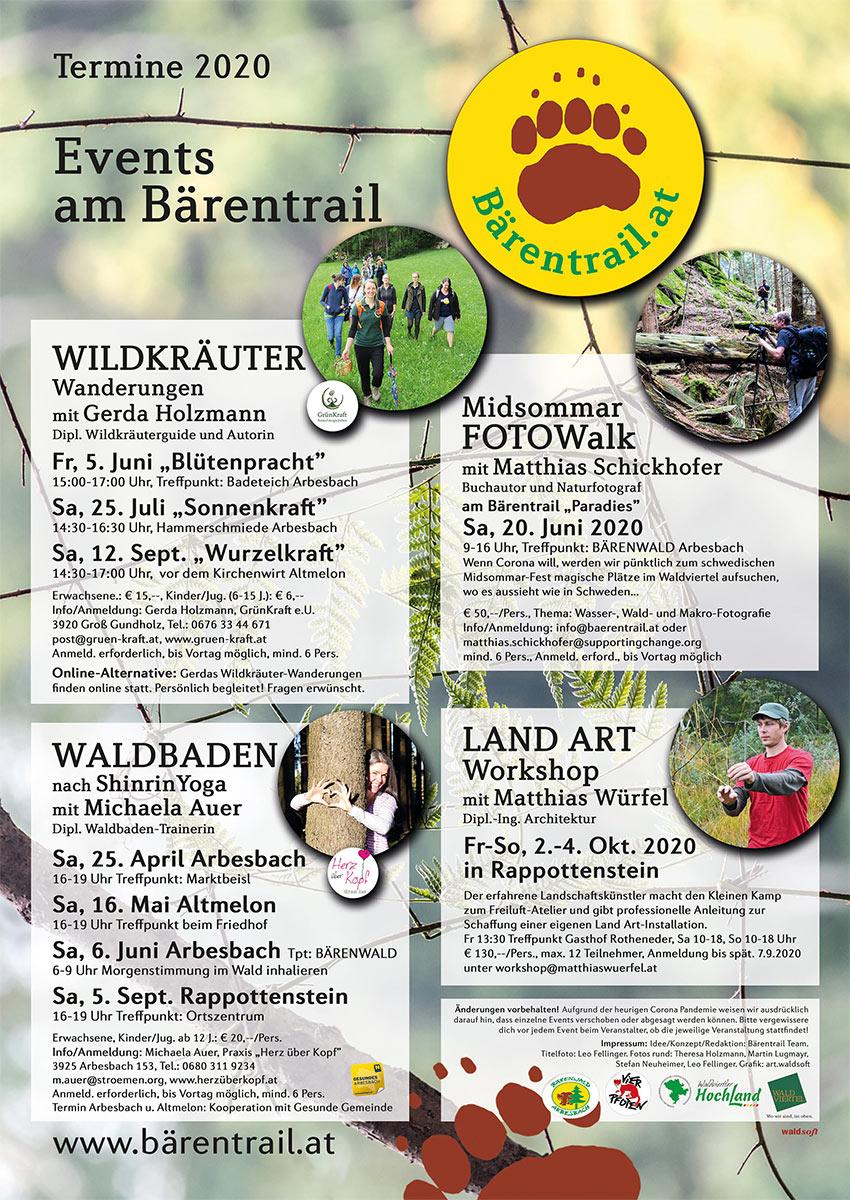 Bärentrail Events 2020 Plakat