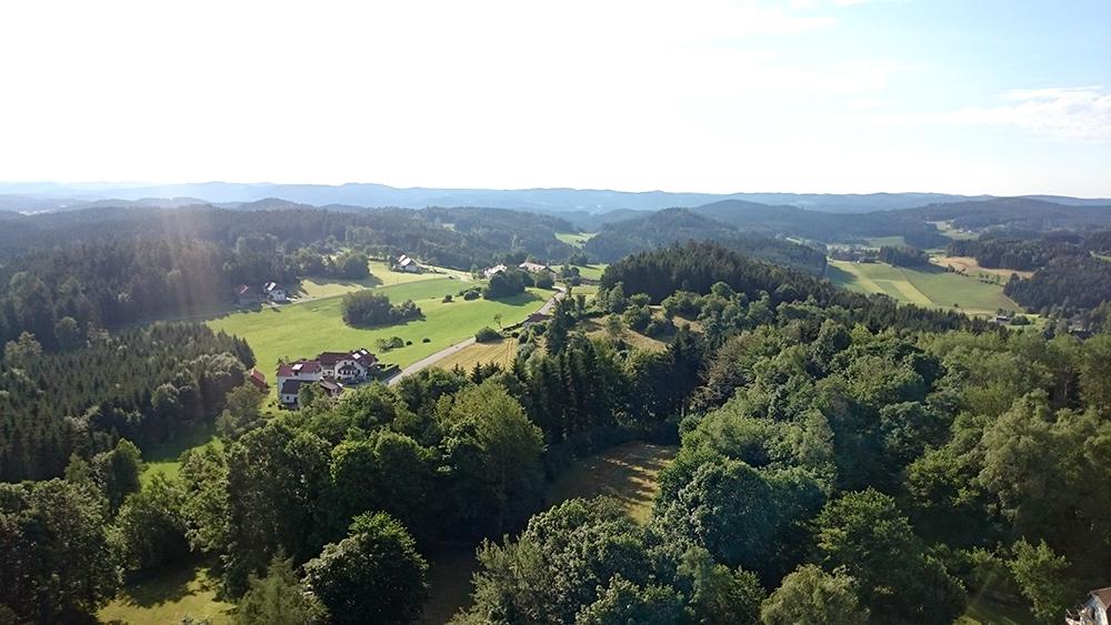 Blick vom Stockzahn, Burgruine Arbesbach (c) waldsoft