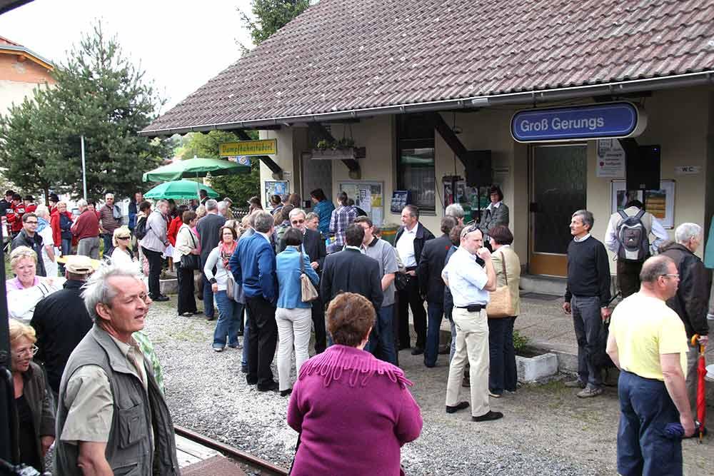 Dampfbahnstüberl Bahnhof Groß Gerungs Fest Mai 2012 (c) waldsoft